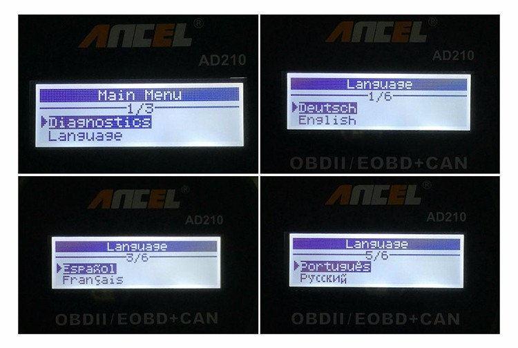 Диагностический автосканер Ancel AD210 на русском языке - 2