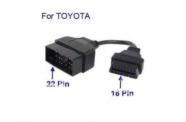 TOYOTA 22pin to 16pin OBD2 Переходник - 1