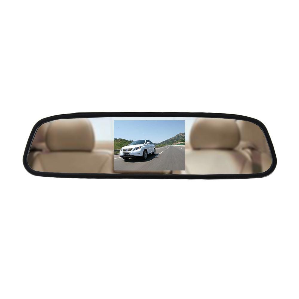 Автомобильное зеркало заднего вида с 4.3 монитором - 1