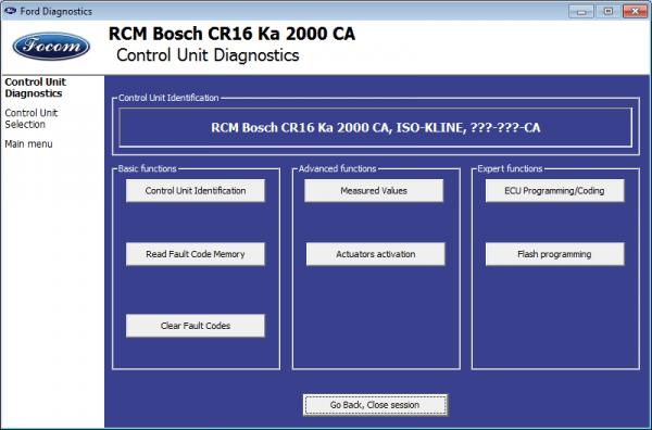 FORD VCM OBD - 1