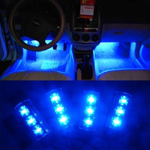 Декоративная 4x3 LED подсветка салона автомобиля - 2