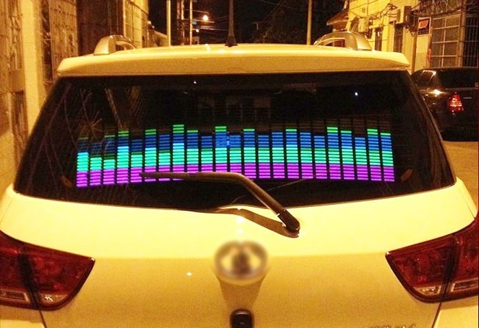 Эквалайзер на стекло авто, светомузыка, 45х11 см - 1
