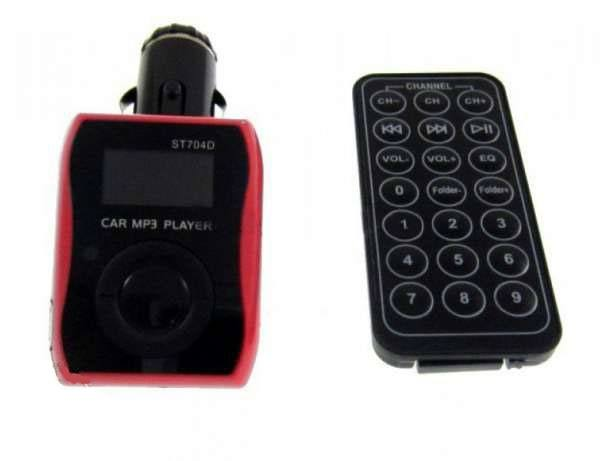 Автомобильный FM-модулятор ST704D, SD MMC TF USB - 1