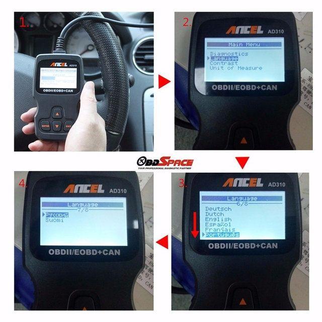 Автосканер Ancel AD310 на русском языке - 4