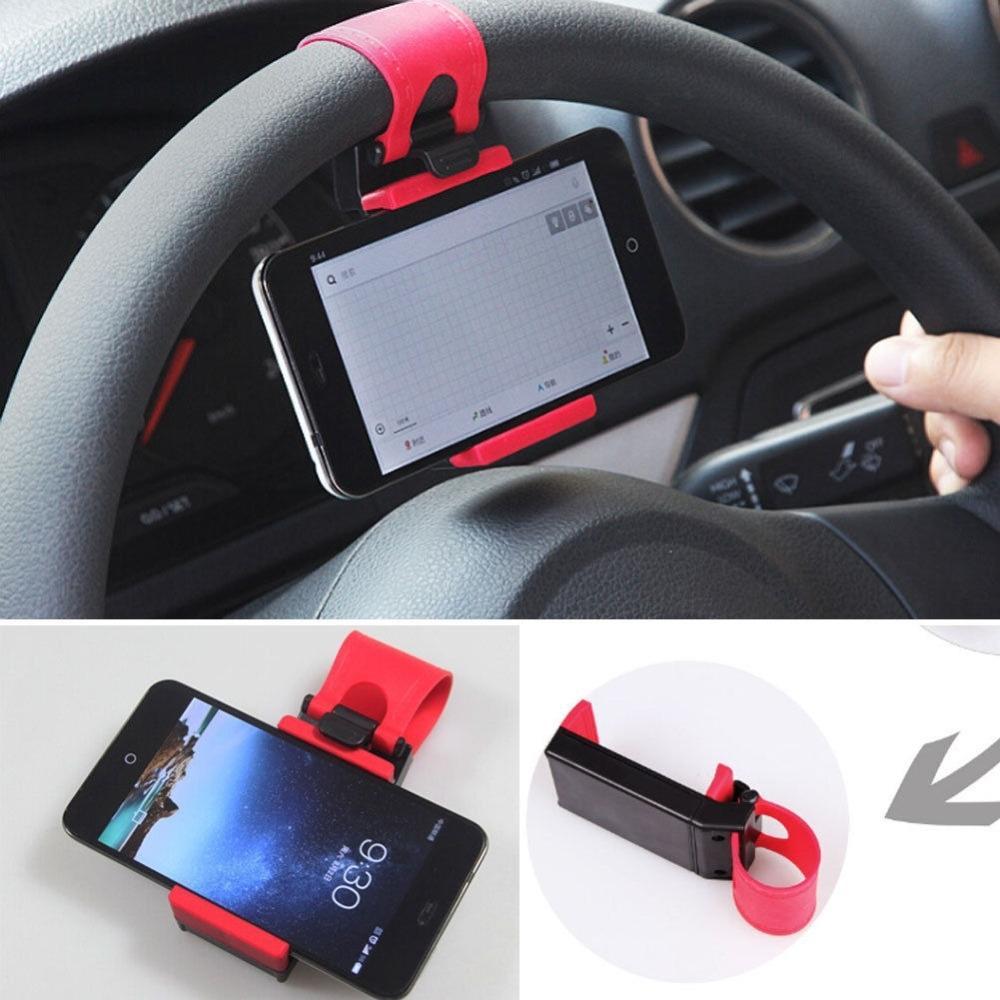 Держатель на руль авто для смартфона, GPS, плеера - 2